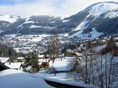 The view of the village from the chalet