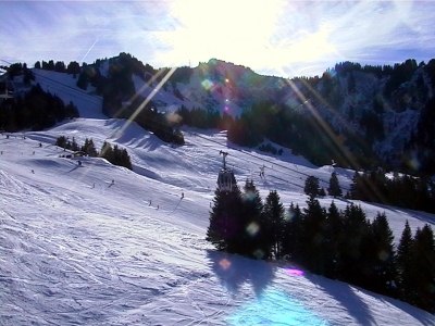 Skiing at Super Chatel